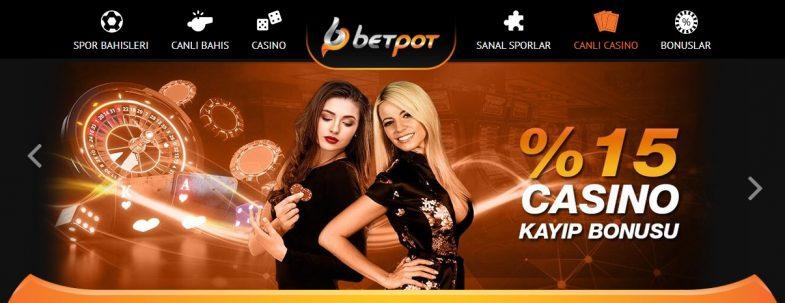 Betpot canlı casino giriş bölümü