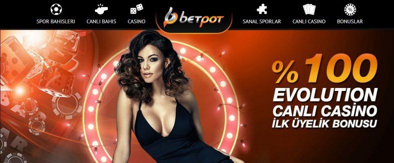 Betpot 100% ilk giriş bonusu tüm üyeler için