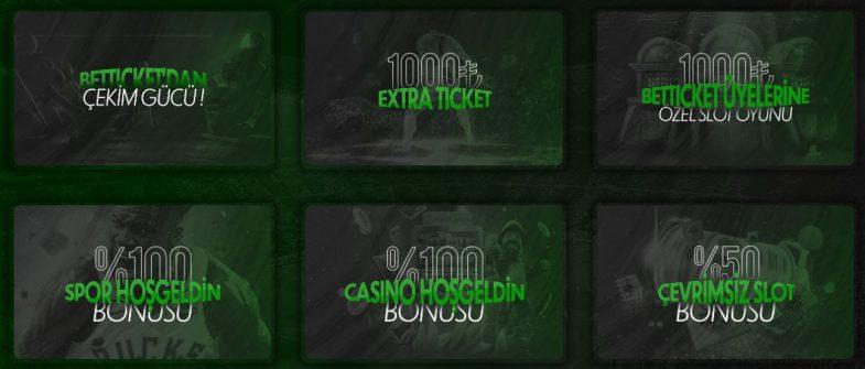 Betticket giriş bonusu seçenekleri