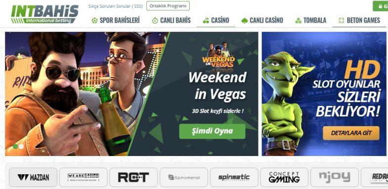 İntbahis casino oyunları bölümü