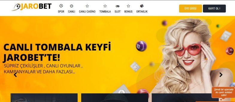 Jarobet giriş sayfası görseli