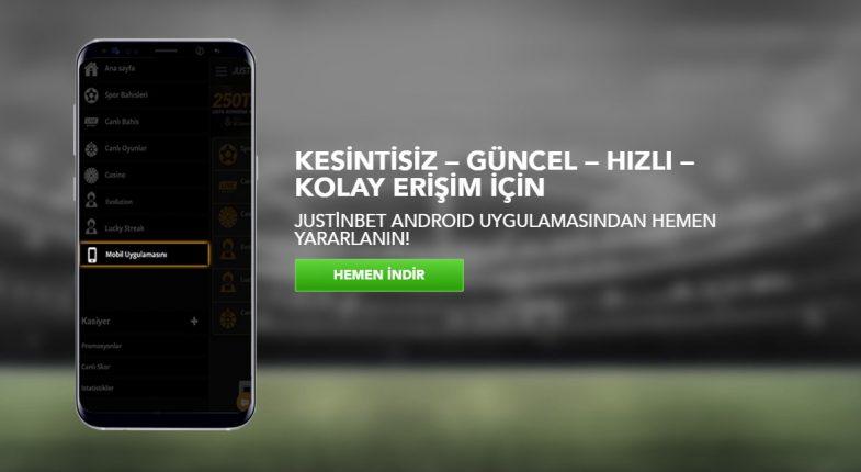 Justinbet mobil giriş uygulaması