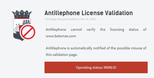 BetsMax Lisansı Yok